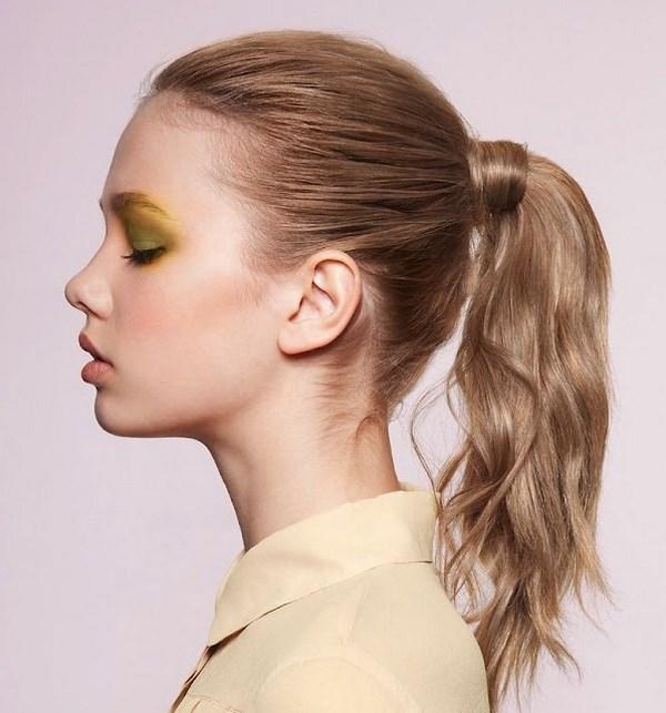 cola de caballo peinado para cuidar el cabello