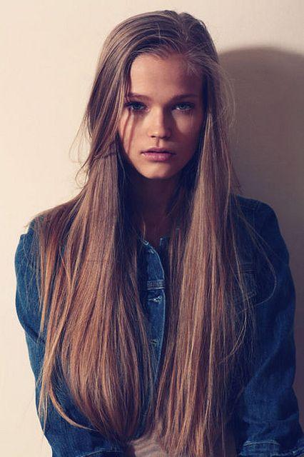 Corte de cabello largo liso