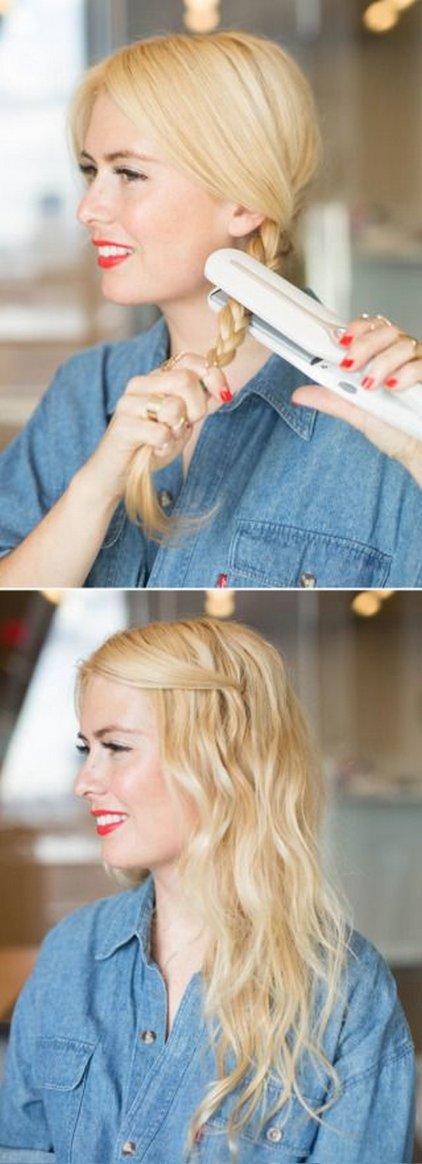 hermoso peinado ondulado