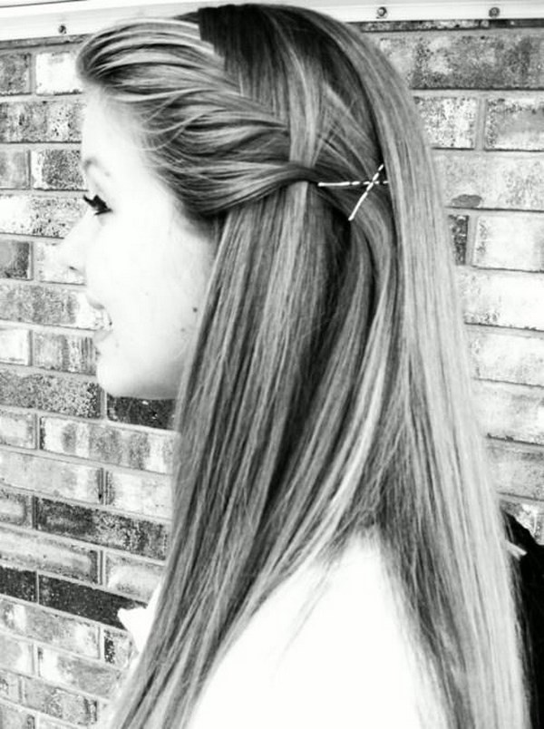sencillo peinado para el colegio