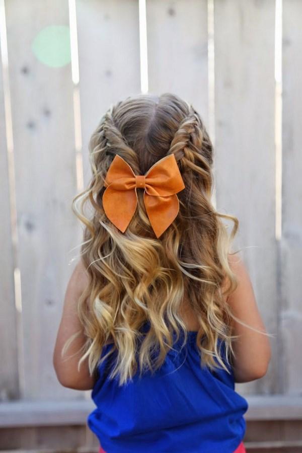 trenzas y cabello ondulado para niñas