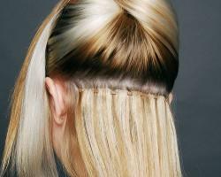 extensiones de cabello puestas