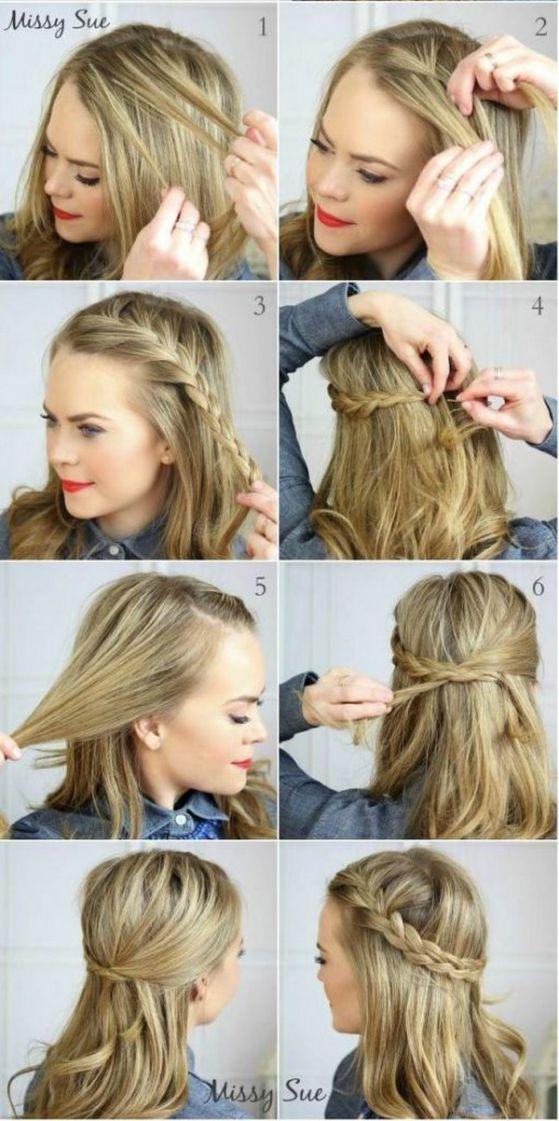 peinado tipo diadema media melena
