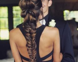 peinado cabello trenzado para prom