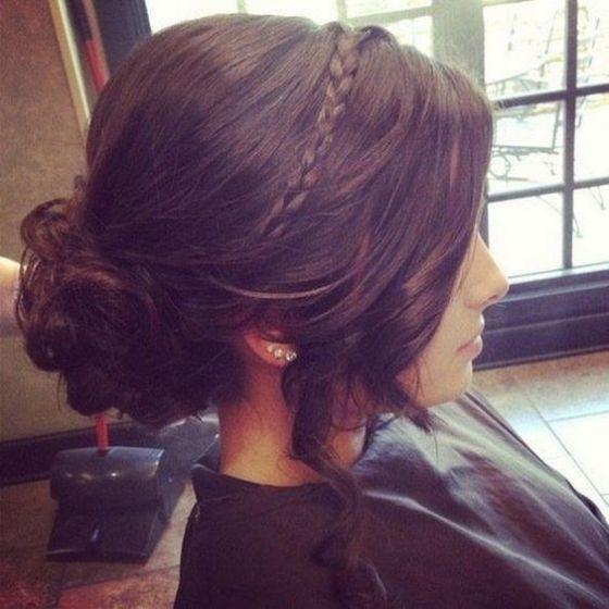 peinado con diadema para jovenes