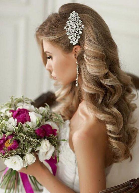 peinado de boda romantico