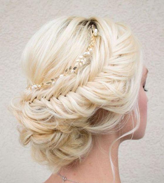peinado recogido estilo romantico