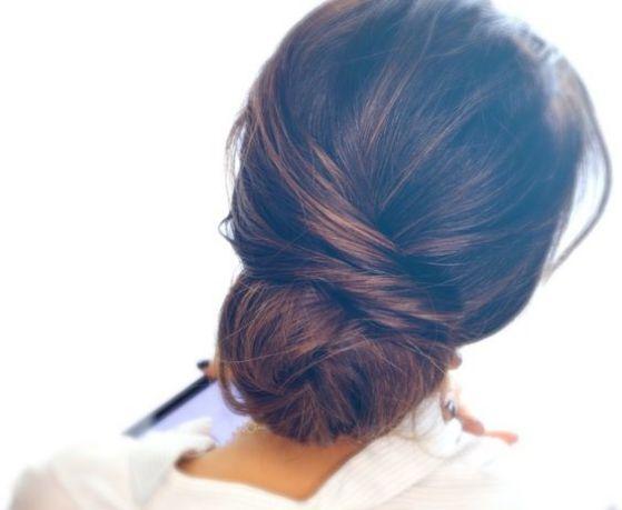 peinado recogido sencillo y elegante para prom