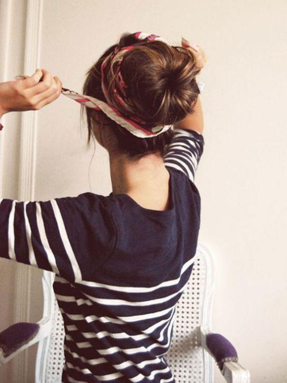 peinados con pañoletas para jovenes