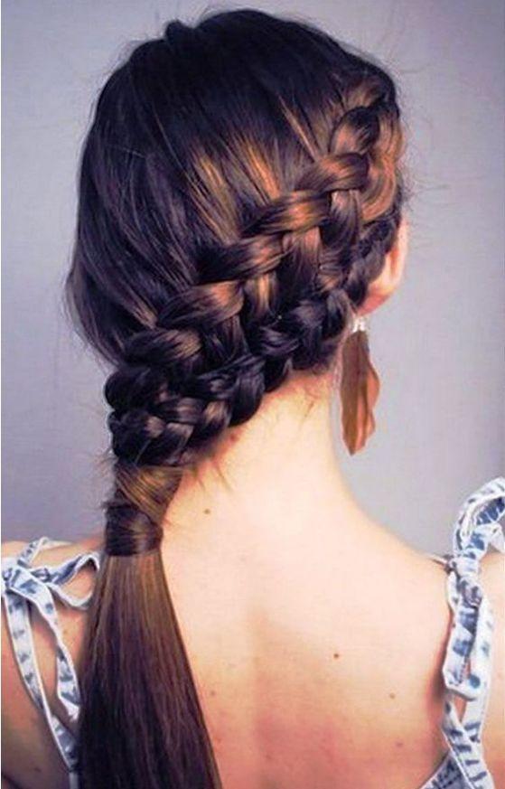 trenza de lado peinados juveniles