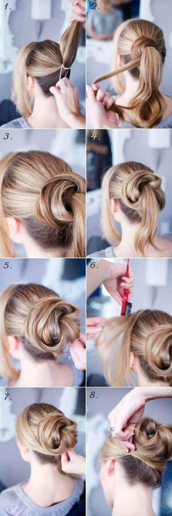 peinado recogido de moda paso a paso