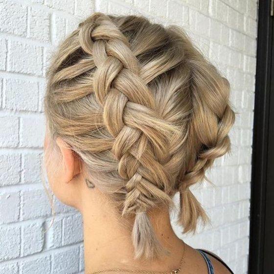 trenzas cabello corto
