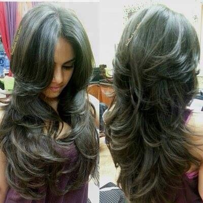 Cortes de cabello en largo degrafilado