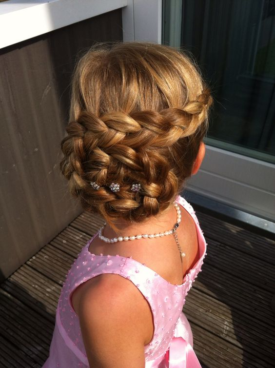 Peinados De Niñas Con Trenzas Recogidas (2)