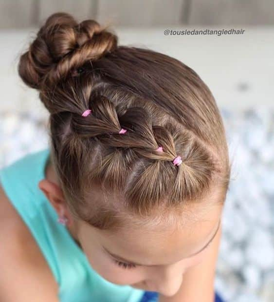 Peinados De Niñas Con Trenzas Recogidas (4)