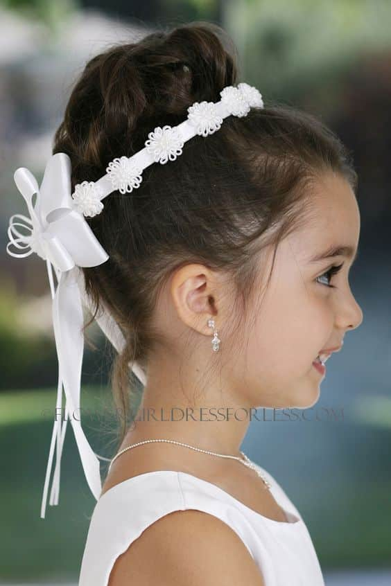 Imagenes de peinados recogidos para primera comunion