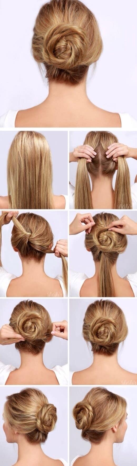 Peinados recogidos faciles paso por paso