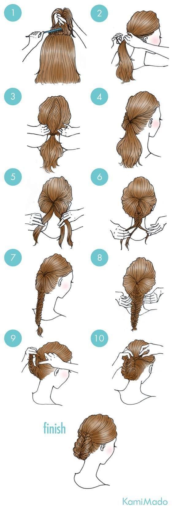 Peinados Recogidos Faciles Paso A Paso (2)