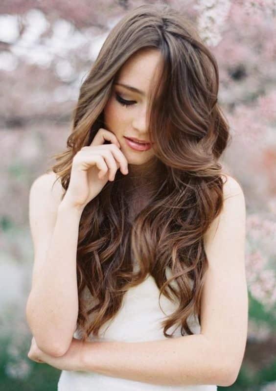 Peinados De Dama De Honor Cabello Suelto (3)