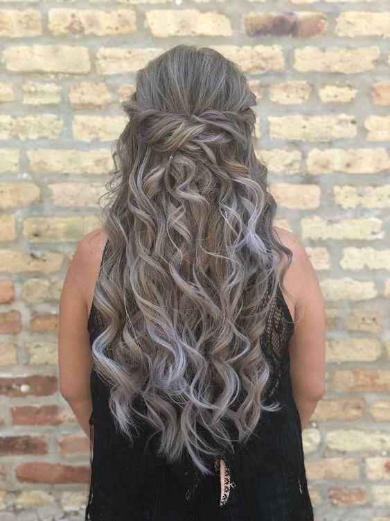 Peinados De Dama De Honor Cabello Suelto (5)