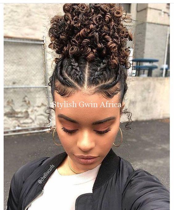 Peinados con rizos recogidos